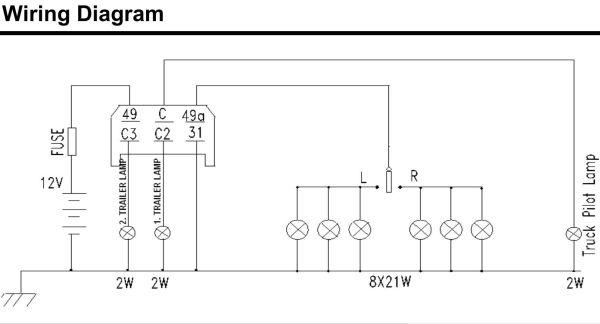 6 Pin Flasher Unit Wiring Diagram